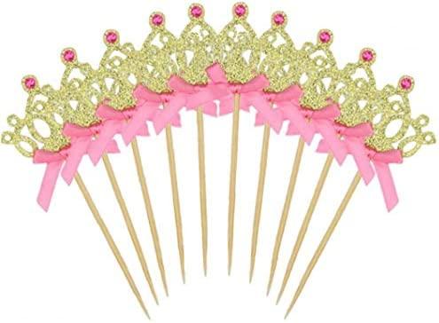 YiniKape 10PCS / Lote Cake Toppers Pastel de Princesa Corona ...