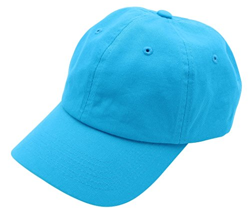 Top Level Brand New Classic Plain Baseball Cap   Unisex Cotton Hat For Men   Women   Adjustable   Unstructured For Max Comfort   Low Profile Polo Style  Aqua