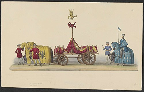 Classic Art Poster - Costumed parade of 1841: car (page XI), anonymous, 1841 11