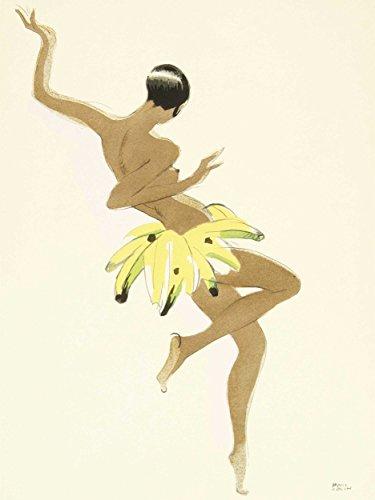 Art Painting Portrait Dancer Josephine Baker Black Pearl Creole Poster ()