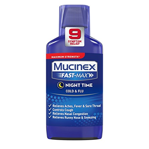 - Mucinex Fast-Max Adult Nighttime Cold and Flu Liquid, 6 Ounce