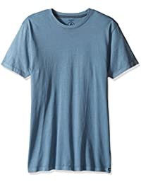 Men's Pale Wash Solid Short Sleeve T-Shirt