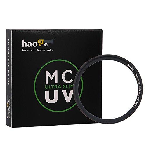 Haoge 49mm Ultra Slim MC UV Protection Multicoated Ultraviolet Lens Filter for Digital Camera DSLR Lens