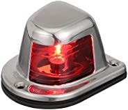 Attwood 66319R7 Red Incandescent Sidelight — Deck Mount, 1-Mile and 112.5-Degree Light Visibility, Stainless S