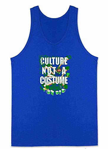 Culture Not A Costume St Patrick's Day Royal Blue M Mens Tank ()