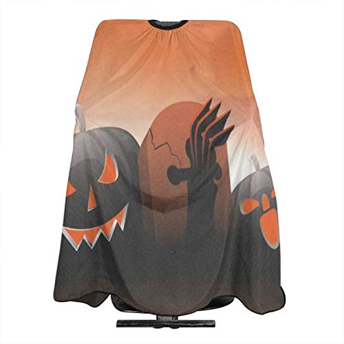 Scary Pumpkins On Shiny Halloween Salon Cape Water and Stain Resistant Apron With Adjustable Snap Closure For Hairstylists, Hairdressers and Barbers for Adult/Women/Men]()