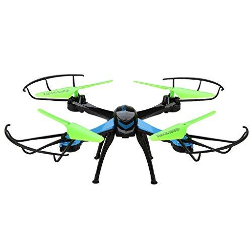 JJRC H98 – RTF Drone Cuadricóptero con 0.3MP cámara (360°eversión, 4 Canales 2.4GHz, 6 Axis Giroscopio, Luz LED, una tecla retorno) + 1 set de Floureon Hélices de regalo