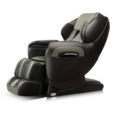Titan Tp-Pro 8400 Full Body Massage Chair, L-track Massage, Zero Gravity Position, Ankle Knobs, Heat, Full Range Foot Rollers, Space Saving, Deep Tissue Massage (Cream)