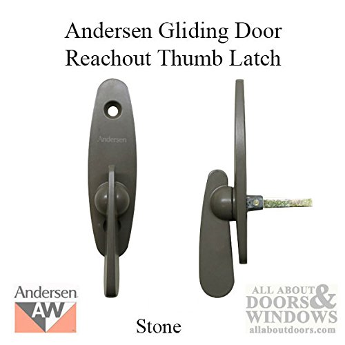 Andersen Tribeca® Style - Gliding Door Thumb Latch - Stone - Replacement Sliding Window