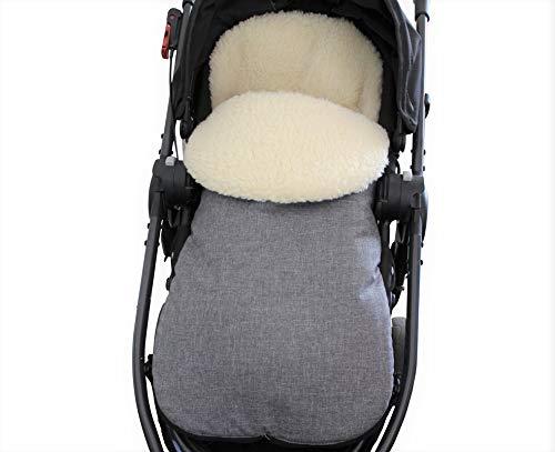 Amazon.com: Saco de dormir de lana natural para cochecito ...