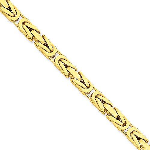 14k Gold 5.25mm Byzantine Chain Bracelet 8 Inches