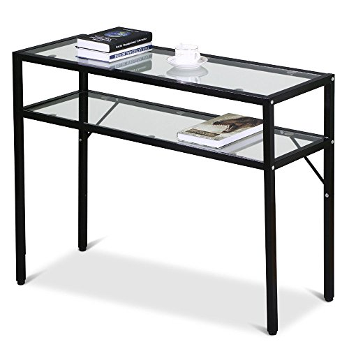 2-tier-console-table-glass-side-end-table-coffee-entry-hall-table-w-shelf-black