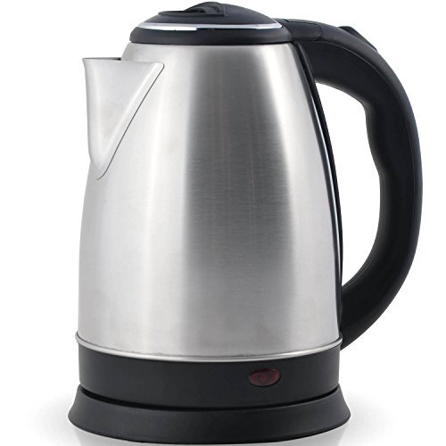 Professional Grade Electric Tea Kettle (HUGE 2.0L CAPICITY - 100% STAINLESS STEEL) - Instantly Boil Hot Water In Seconds - Cordless - Perfect For Brewing Teas, Coffee, Cold Brew, Espresso, - Kettle Faberware Tea Electric