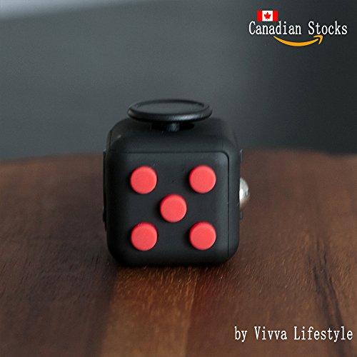 De-Stress Fidget Cube - Red on Black