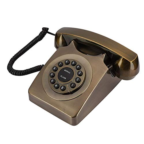 Mugast Vintage Corded Telephone,Retro Antique Desktop Wired Landline Phone with Noise Reduction,Number Store and Button Dialing for Home/Office Decoration from Mugast