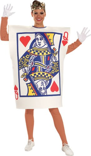 Playing Card Costume (Rubie's Costume Queen Of Hearts, Multicolored, One Size Costume)