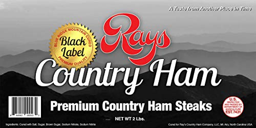 Gift Ham - Rays Country Ham - 2 lb. - Premium Country Ham Steaks - Blue Ridge Mountain Cured