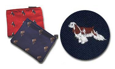 Cocker Spaniel (Buff and White) Cosmetic Bag (Dog Breed Make-up -