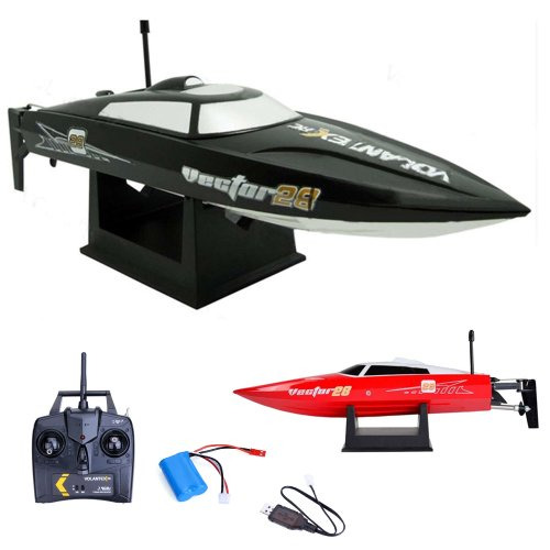 Speedboot Pro 2.4GHz - RC ferngesteuertes Boot mit 2,4GHz und vollproportionale Fernsteuerung, Schiff-Modell mit Top-Speed bis zu 30km/h, Racingboat, Ready-to-Run, Top-Design, Neu