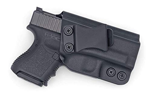 Concealment Express KYDEX Holster Compatible with Glock 26/27/33 (Gen 1 - Gen 5) IWB KYDEX Holster Black/Right Hand/User Adjustable (-5 to +20°)