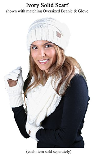 S1-6100-25 Funky Junque Infinity Scarf - Ivory (Solid) by Funky Junque (Image #1)