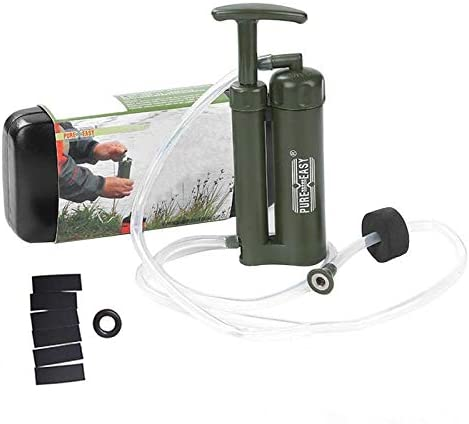 Bomba de Agua portátil para Acampar Filtro de Agua Supervivencia en el Exterior Senderismo Acampar Purificador de Agua de Emergencia Senderismo Mochila: Amazon.es: Hogar