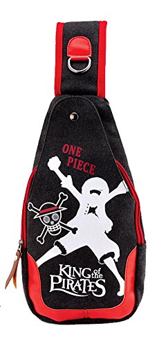 Gumstyle Anime One Piece Crossbody Sling Bags Backpack One Strap Shoulder Bag Casual Day Bag Chest Bag