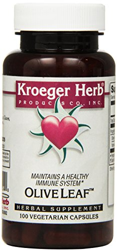 Kroeger Herb Co Olive Leaf Capsules, 100 Count