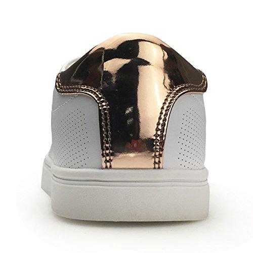 Xiaoyouyu Faux Pu Lederen Fashion Sneakers Voor Dames Platform Design Veterschoenen Wit 2