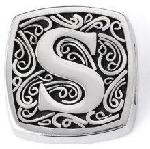 Lori Bonn S is for Stylish Slide Charm - Authentic Silver Slide Charm
