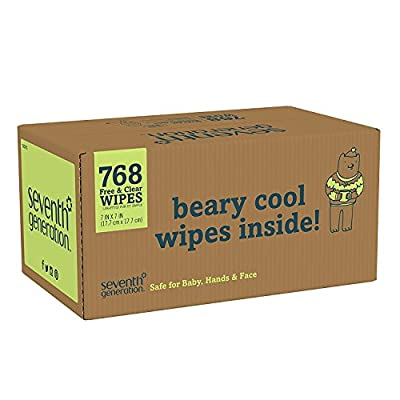 Seventh Generation Thick & Strong Free and Clear Baby Wipes