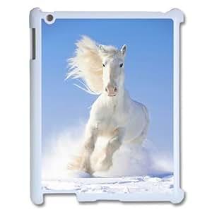 SHJFDIYCase Design DIY White Horse Best Phone Case for Ipad2,3,4, DIY Phone Case SHJF-500910