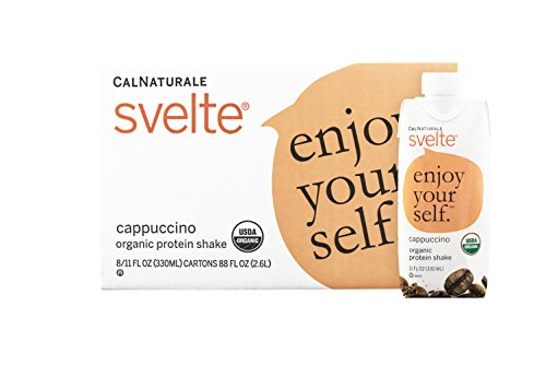 CalNaturale Svelte Organic Protein Shake, Cappuccino, 11 Ounce (Pack of - Drink Cappuccino