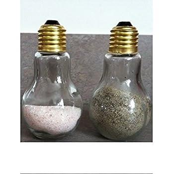 Light Bulb Salt and Pepper Glass Shaker Set by Chefcaptain
