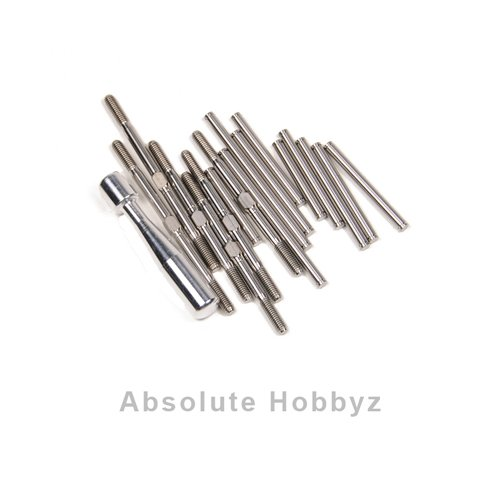 Lunsford Super Duty Losi XXX-SCT Titanium Turnbuckle & Hinge Pin Kit w/Ball (Turnbuckle Hinge Pin Kit)