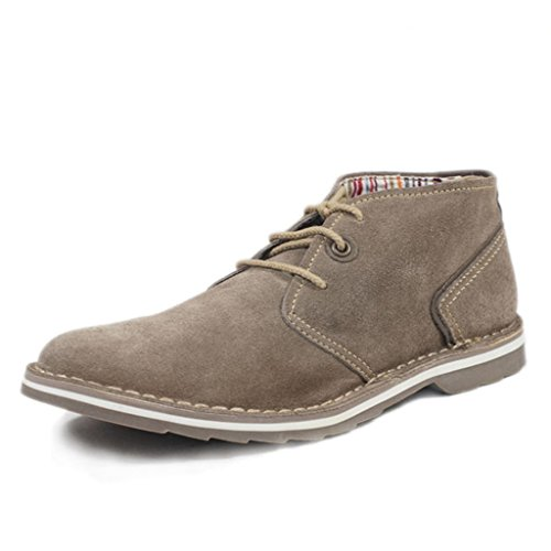 UK.GREIFF Mens Oil Suede Leather Lace up Oxfords Shoes Grey