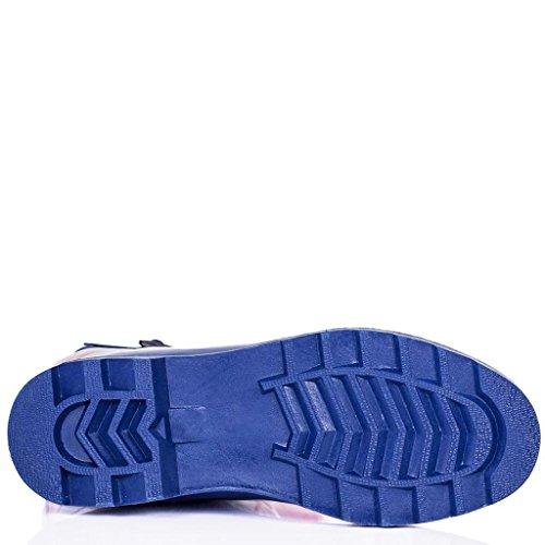 Botas de Agua Goma Plano Botas Altas Azul Goma EU 39