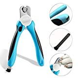 Dog Nail Clippers and Trimmer by with Safety Guard to Avoid Over-Cutting Nails & Free Nail File - Razor Sharp Blades - Sturdy Non Slip Handles - for Safe, Pet Supplies Dogs Grooming Claw Care