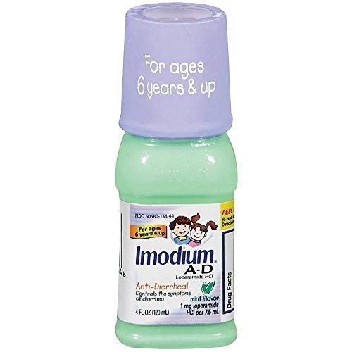 Imodium A-D (Children's) Liquid Anti-Diarrhea, Mint Flavor, 4-Ounce Bottles (Pack of (Imodium Ad Liquid Mint)