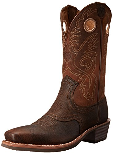 Ariat 2227, Stivali da Cowboy Uomo Brown Oiled Rowdy