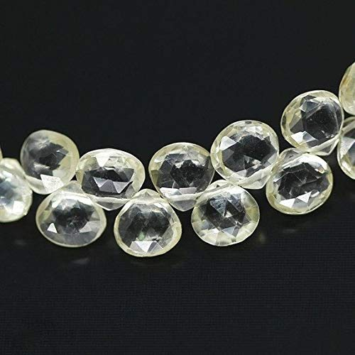 """KALISA GEMS Beads Gemstone Rare Yellow Scapolite Faceted Heart Drop Gemstone Loose Beads Strand 4"""" 4mm 6mm"""