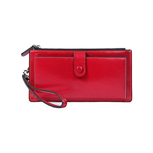 Miraclekoo Synthetic Leather Bifold Wallet Slim Purse Cre...