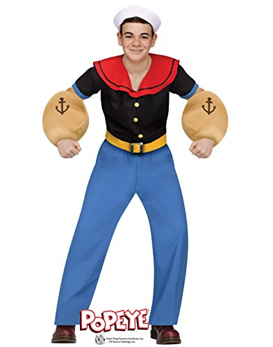 Fun World Big Boy's Popeye Costume Childrens Costume, Multi, Teen for $<!--$30.34-->