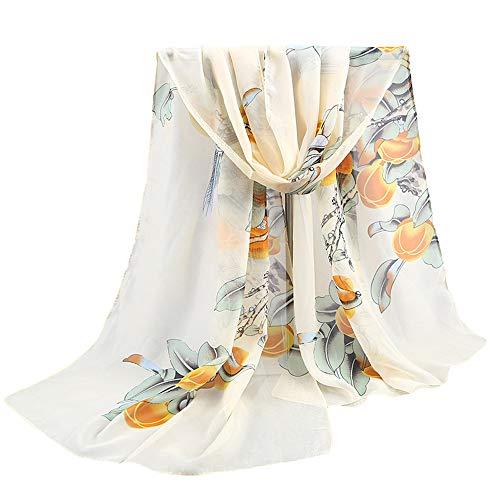 HULKAY Ladies Fashion Printed Chiffon Beach Towel Shawl Scarf(F 2)