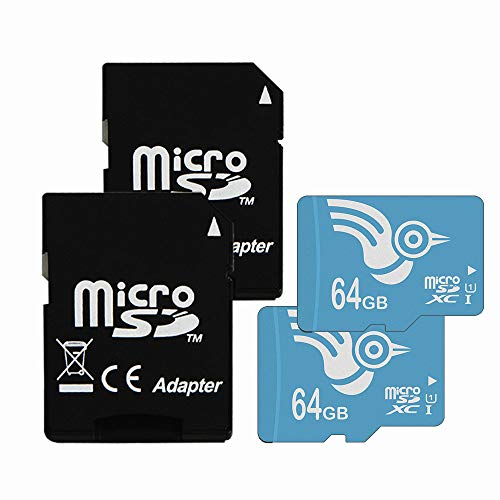 ADROITLARK High Speed 64GB Micro sd Card Class 10 2 Pack Micro SD Memory Card for GoPro Camera Mobile Phones Tablet with Adapter(U1 64GB-2Pack) from ADROITLARK