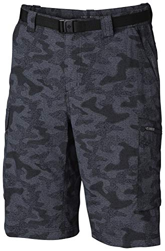Columbia Men's Silver Ridge Printed Cargo Short, Black Heather Camo Print, ()