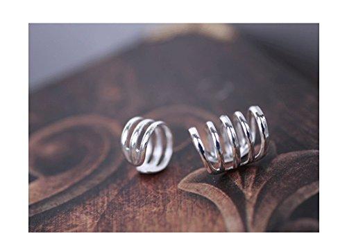 925 Sterling Silver Multi Circles Cuff Earrings for Women Teen Girls Cartilage Earrings FarryDream
