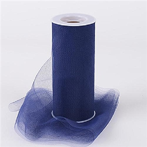 Creative Ideas 6-Inch by 25 Yards (75 Feet), White 29 Colors Available, Navy Blue -