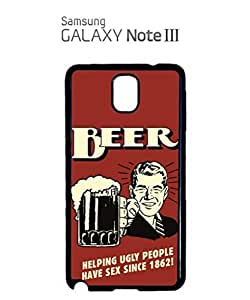 Beer Helping Ugly People Sex Mobile Cell Phone Case Samsung Note 3 Black by hollowden