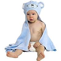 Baby Bath Towel with Hood - Soft Animal Face Terry Cloth Wrap (Pink Bunny)